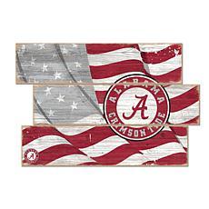 Officially Licensed NCAA University of Alabama Three Plank Flag