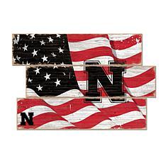 Officially Licensed NCAA University of Nebraska Three Plank Flag