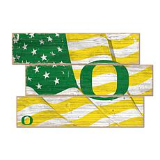 Officially Licensed NCAA University of Oregon Three Plank Flag