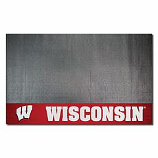Officially Licensed NCAA Vinyl Grill Mat - University of Wisconsin
