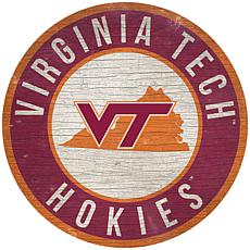 """Officially Licensed NCAA Virginia Tech 12"""" Wood Circle"""