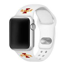 Officially Licensed NCAA White 42/44MM Apple Watch Band - IA Cyclones