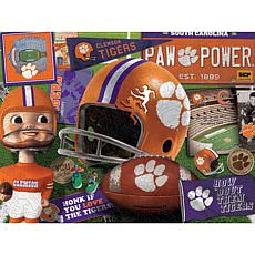 Officially Licensed NCAA  Wooden Retro Series Puzzle - Clemson Tigers