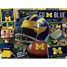 Officially Licensed NCAA Wooden Retro Series Puzzle - Michigan