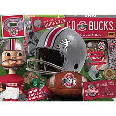 Officially Licensed NCAA  Wooden Retro Series Puzzle - Ohio State