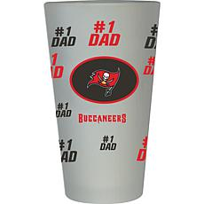 """Officially Licensed NFL """"#1 Dad"""" 16 oz. Frosted Pint Glass -Buccaneers"""