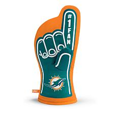 Officially Licensed NFL #1 Fan Oven Mitt - Miami Dolphins