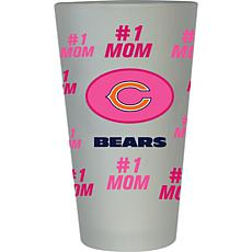 "Officially Licensed NFL ""#1 Mom"" Frosted Pint Glass - Chicago Bears"