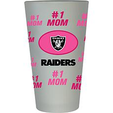 "Officially Licensed NFL ""#1 Mom"" Frosted Pint Glass - Oakland Raiders"