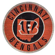 """Officially Licensed NFL 12"""" Circle Sign with State & Logo"""