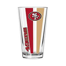 Officially Licensed NFL 16 oz. Vertical Decal Pint - 49ers
