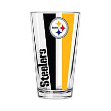 Officially Licensed NFL 16 oz. Vertical Decal Pint - Steelers
