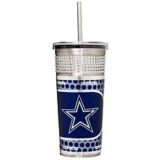 Officially Licensed NFL 16oz. Tumbler w/Straw - Cowboys