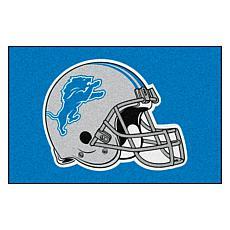 """Officially Licensed NFL 19"""" x 30"""" Helmet Logo Starter Mat - Lions"""