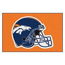 """Officially Licensed NFL 19"""" x 30"""" Helmet Logo Starter Mat - Broncos"""