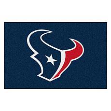 """Officially Licensed NFL 19"""" x 30"""" Logo Starter Mat - Houston Texans"""