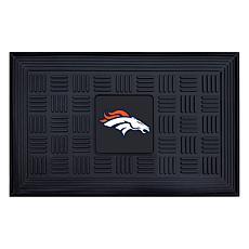 """Officially Licensed NFL 19.5"""" x 31"""" Heavy-Duty Door Mat - Broncos"""
