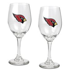 Officially Licensed NFL 2-piece Wine Glass Set-Arizona