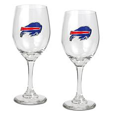 Officially Licensed NFL 2-piece Wine Glass Set-Buffalo