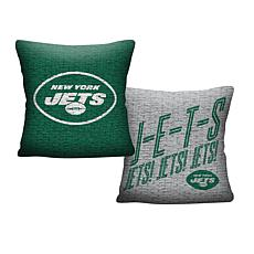 """Officially Licensed NFL 20"""" Invert Pillow - Jets"""
