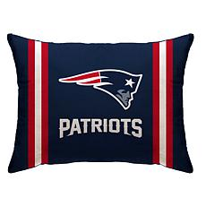 """Officially Licensed NFL 20"""" x 26"""" Plush Striped Bed Pillow - Patriots"""