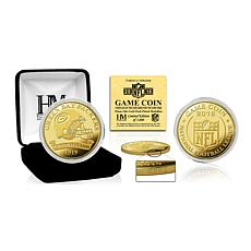 Officially Licensed NFL 2018 Limited Edition 24K Gold-Plated Game Coin