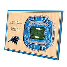 Officially-Licensed NFL 3-D StadiumViews Display - Carolina Panthers