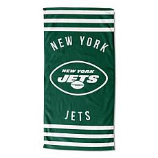 """Officially Licensed NFL 30"""" x 60"""" Stripes Beach Towel - Jets"""