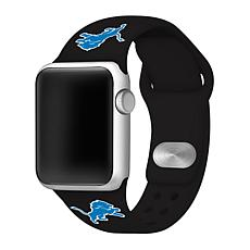 Officially Licensed NFL 38/40mm Apple Watch Band - Detroit Lions