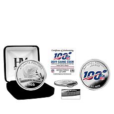 Officially Licensed NFL 39mm Silver-Plated Game Coin