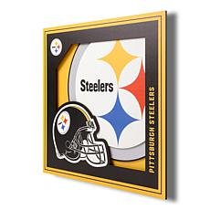 """Officially Licensed NFL 3D Logo Series Wall Art - 12"""" x 12"""" - Steelers"""