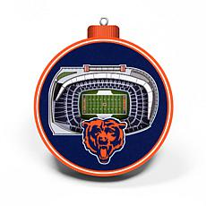 Officially Licensed NFL 3D StadiumView Ornament 2-pack - Chicago