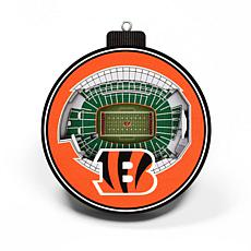 Officially Licensed NFL 3D StadiumView Ornament 2-pack - Cincinnati