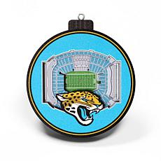 Officially Licensed NFL 3D StadiumView Ornament 2-pack - Jacksonville