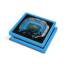 Officially Licensed NFL 3D StadiumViews Coaster Set- Carolina Panthers