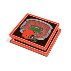 Officially Licensed NFL 3D StadiumViews Coaster Set - Cleveland Browns