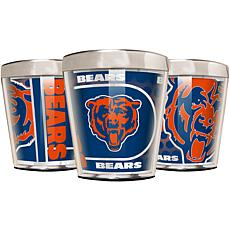 Officially Licensed NFL 3pc Shot Glass Set - Bears