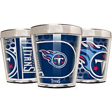 Officially Licensed NFL 3pc Shot Glass Set - Titans