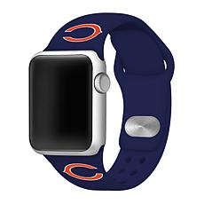 Officially Licensed NFL 42/44mm Apple Watch Band - Chicago Bears