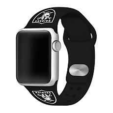 Officially Licensed NFL 42/44mm Apple Watch Sport Band - Oak. Raiders