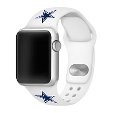 Officially Licensed NFL 42/44mm White Apple Watch Band- Dallas Cowb...