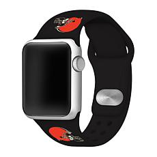 Officially Licensed NFL 42mm/44mm Apple Watch Med. Sport Band - Browns