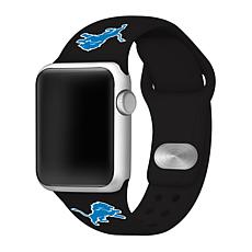 Officially Licensed NFL 42mm/44mm Apple Watch Med. Sport Band - Lions