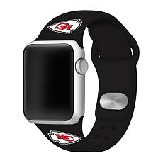 Officially Licensed NFL 42mm/44mm Apple Watch Med. Sport Band - Chiefs