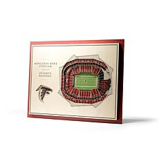 Officially Licensed NFL 5-Layer 3-D Wall Art - Atlanta Falcons