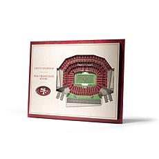 Officially Licensed NFL 5-Layer 3-D Wall Art - San Francisco 49ers