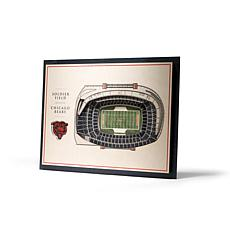Officially Licensed NFL 5-Layer StadiumViews 3D Wall Art-Chicago Bears