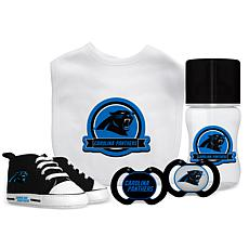 Officially Licensed NFL 5-piece Baby Gift Set - Carolina Panthers