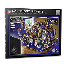 Officially Licensed NFL 500-piece Puzzle - A Real Nailbiter - Ravens