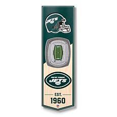 "Officially Licensed NFL 6"" x 19"" 3-D Stadium Banner - New York Jets"